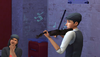TS4 Sims PlayingViolin