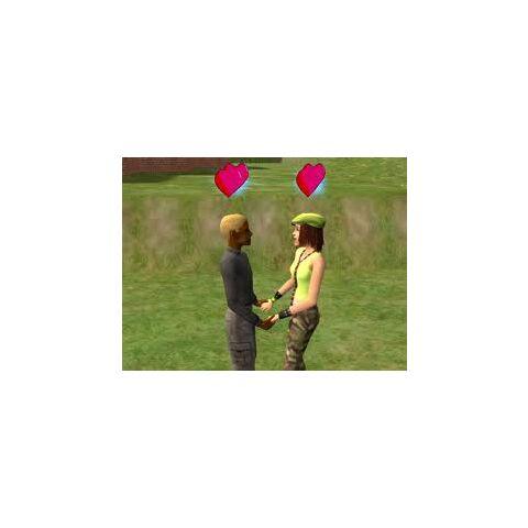 Dos Sims adolescentes en una relación estable.