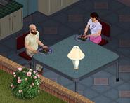 Ts1 Bob and Betty Newbie eating dinner