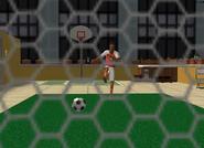 Harold Jocks playing soccer