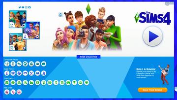 The Sims 4 new main menu