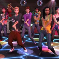 Jóvenes adultos bailando.