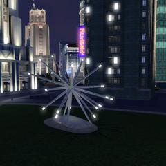 Estatua iluminada