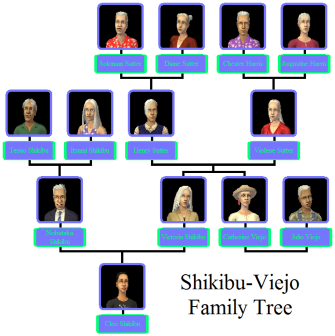 Shikibu-Viejo Family Tree