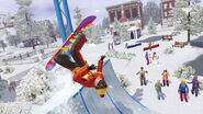 TS3 seasons winter halfpipesnowboarding
