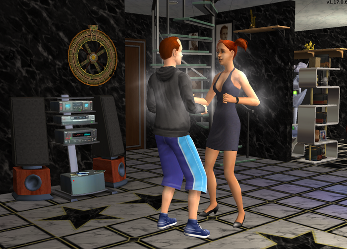Dan and Betty dancing together