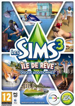 Packshot Les Sims 3 Île de Rêve