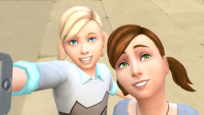 TS4 two children taking a selfie. Child   The Sims Wiki   FANDOM powered by Wikia