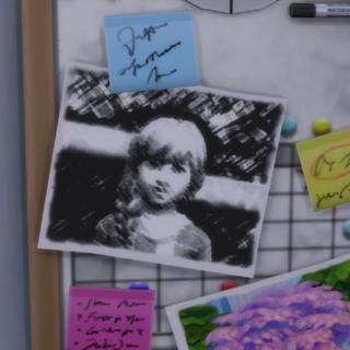 Elsa en el tablón de <i>Papás y Mamás</i>.
