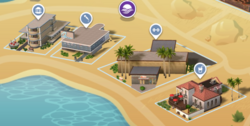 Oasis Springs Commercial District Map