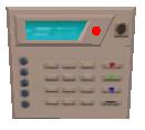Object electronic burgler alarm