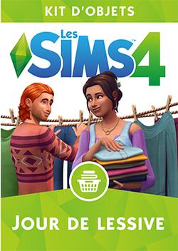 Packshot Les Sims 4 Jour de lessive