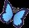 Голубая бабочка морфо (иконка)