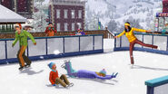 TS3 seasons winter iceskating