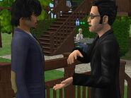 Edouard discutant avec Nicolas Taupe