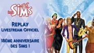 Livestream officiel - 18 ans des Sims