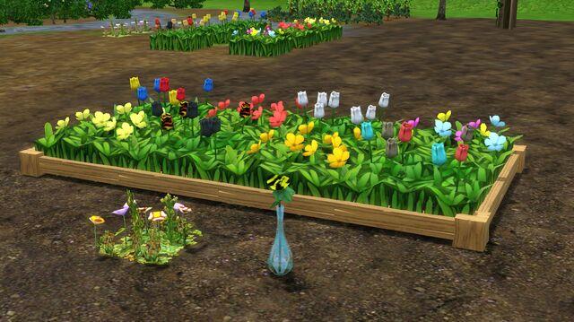File:Bohemian Garden plastic tulips.jpg