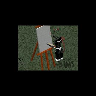 Molly puede distraerse con un caballete de pintura