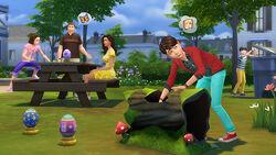 Les Sims 4 Chasse aux œufs du lapin