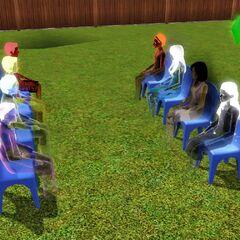 Todos los fantasmas de <i>Los Sims 3</i> (con los fantasmas de <i>Trotamundos</i>, <i>Triunfadores</i>y <i>Al Caer la Noche</i>).