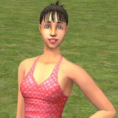 Un ejemplo de adulto en <i>Los Sims 2</i>, <a href=