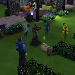 Fantasmas testigos de la muerte.