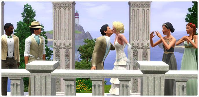 Image A Beautiful Sim Weddingjpg The Sims Wiki FANDOM - Sims 4 Wedding Cake Cheat