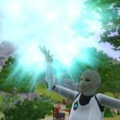 Alienígena transmutando mineral