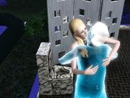 Vampire-ghost kiss