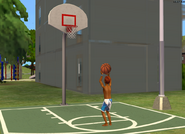 Jordan Logan shooting hoops