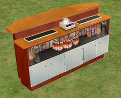 Ts2 black lacquer bar counter