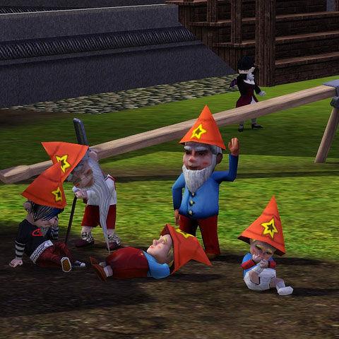 Las cinco edades de los gnomos en Los Sims 3: ¡Menuda familia!
