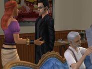 Natasha discute avec Nicolas Taupe