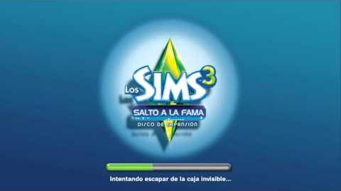 Pantalla de carga de Los Sims 3 Salto a la Fama.mp4