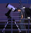 Regarder les étoiles à travers un télescope
