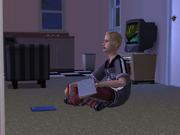 TS2 Сим-подросток делает уроки