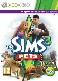 The Sims 3 Pets - Xbox 360 box art