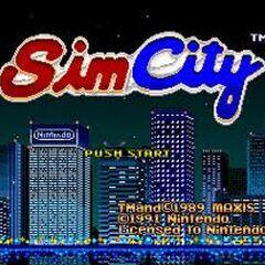 Pantalla de título de SimCity para SNES