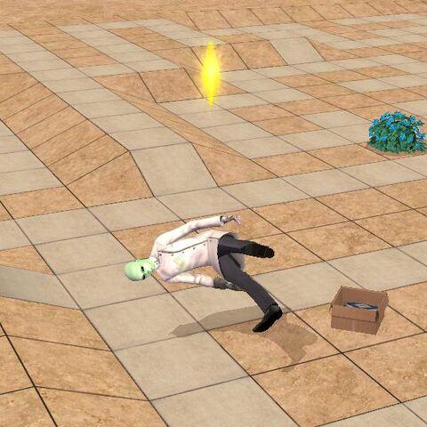 Alienígena Obrero, cuando es traído por el insimenator solo estará unos segundos y después desaparecerá.