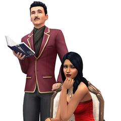 Portait von Bella und Mortimer für <i>Die Sims 4</i>
