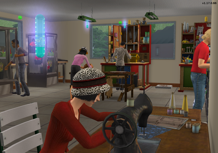 Amar's Flowers & Craftables - busy crafting room 1