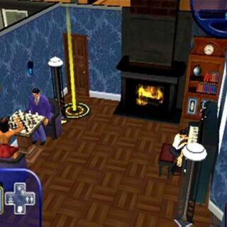 La familia Lápida en la sala de estar