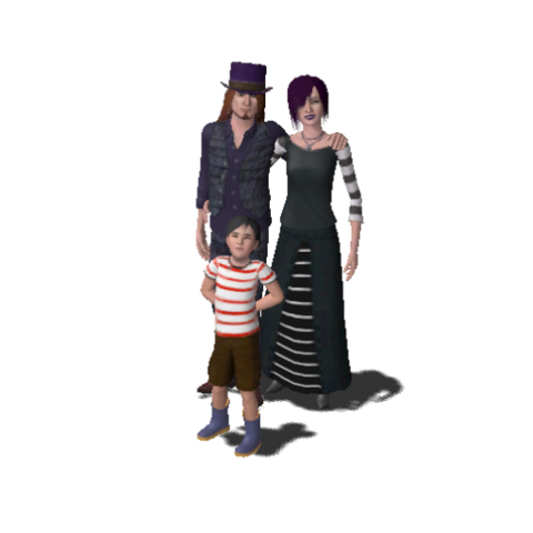 File:Goth Family (The Sims 3).png