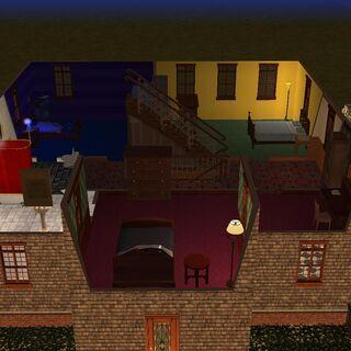 Segundo piso, habitaciones de Homero, Casandra y Alejandro y 2 baños