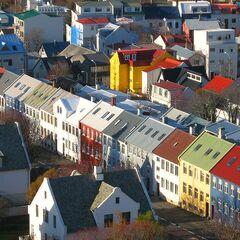 Las típicas casas de la capital de Islandia, notese el parecido con Aurora Skies
