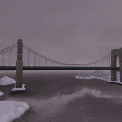 Puente en invierno