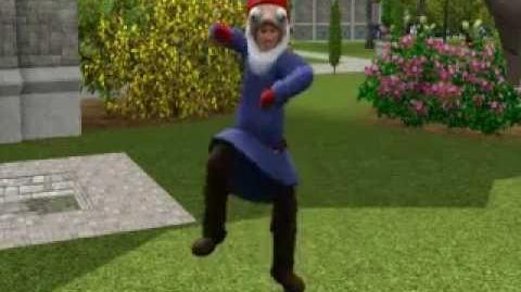 Gnome mascot dance