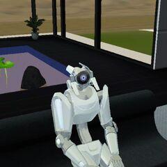 Plumbot con una cabeza similar a un <a  class=