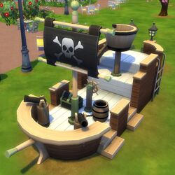 Sims4 redbeards revenge pirate ship jungle gym