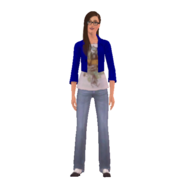 College Jean render